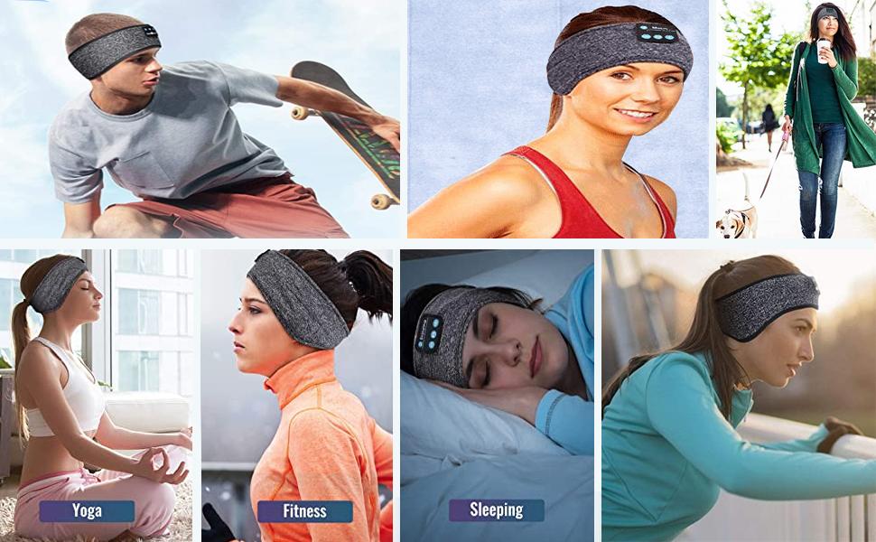 Sehr gut geeignet für kabellose Schlafkopfhörer für Fitness, Bewegung, Laufen, Yoga, Sport usw.