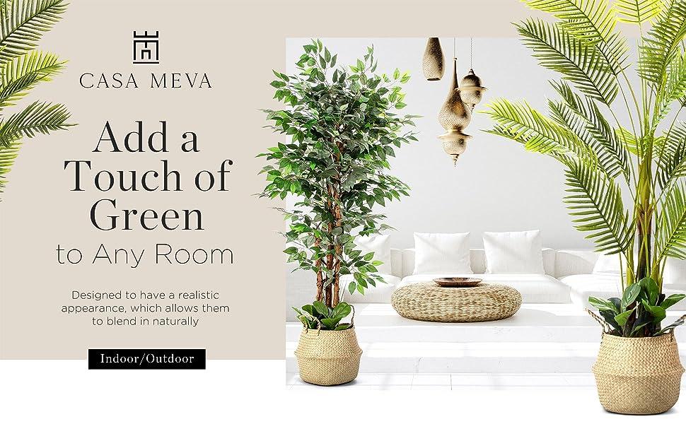 indoor plants, modern home decor, fake, artificial tree, artificial trees, palm tree, balcony decor