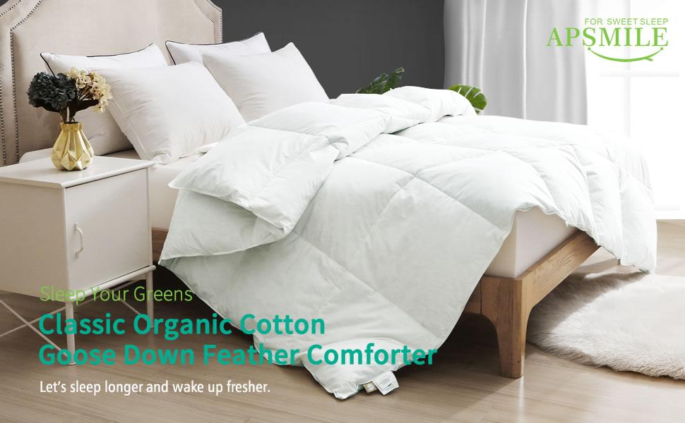Organic Goose Down Feather Comforter Duvet