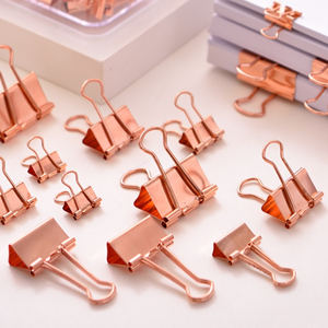 binder clip paper binder rose gold office supplies and accessories