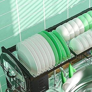 dish rack plate rack support shelf bowl rack heavy-duty stainless steel