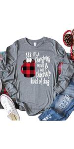 Christmas Coffee Movie Long Sleeve Shirt