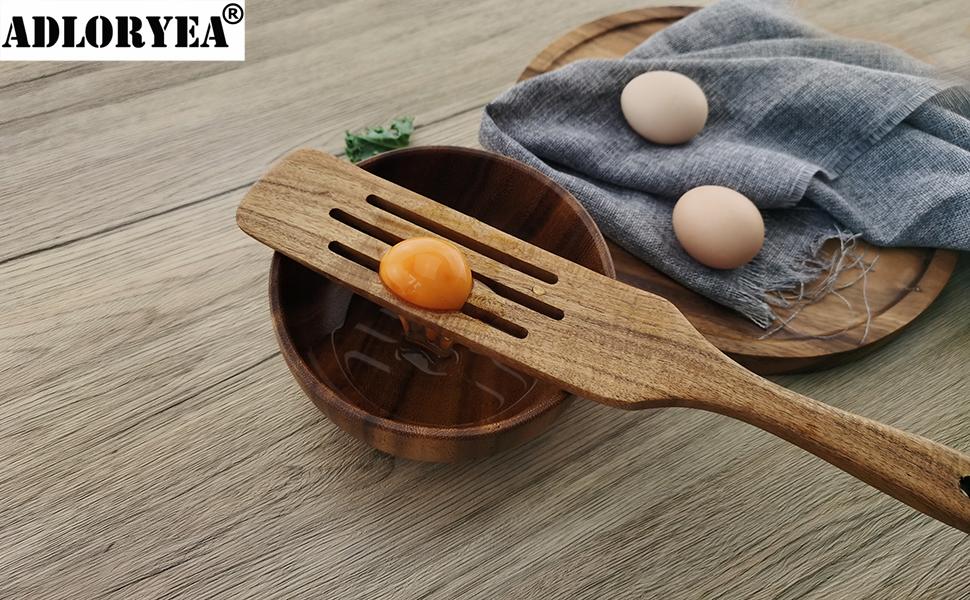 wooden utensils set for cooking