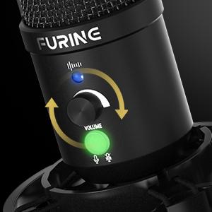 usb microphone with gain knob