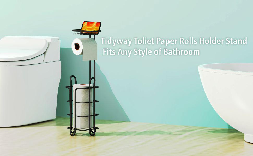Toilet paper rolls holder stand