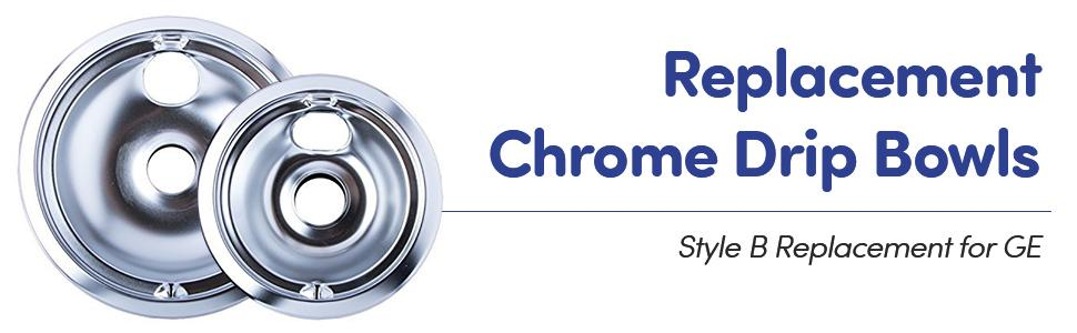 kitchen basics replacement chrome drip bowls chrome drip bowls for whirlpool kitchenware