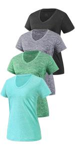 womens dry fit shirts-4 pack