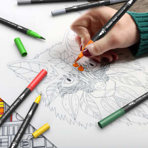 Farben Dual Tip Brush Pen Set