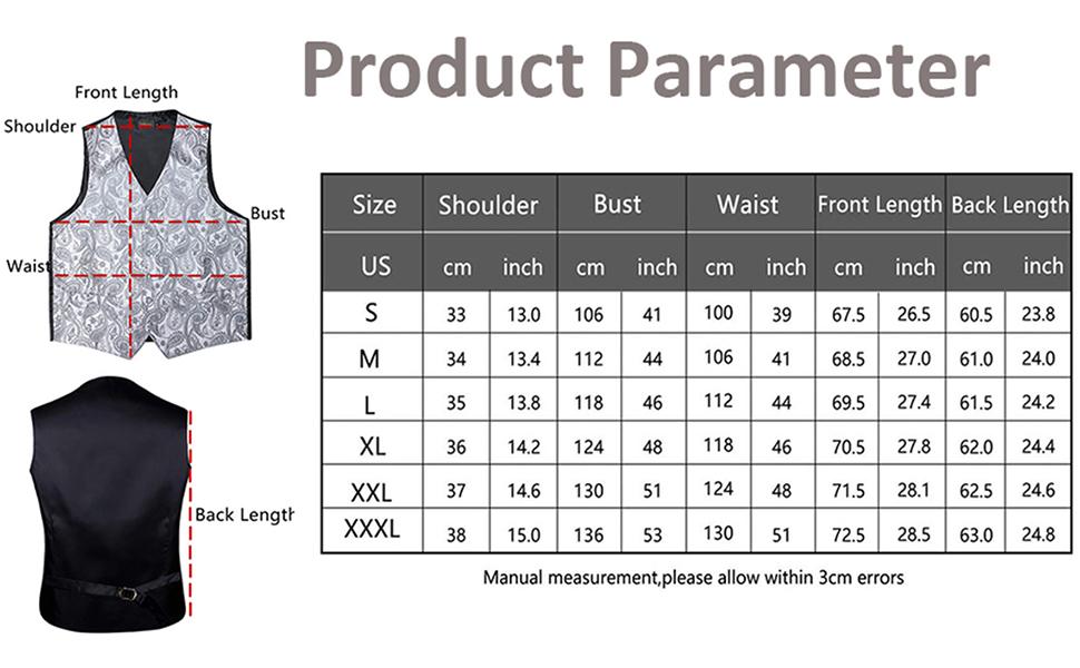 regular fit vest set