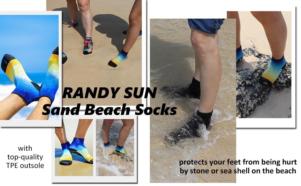 sand beach socks