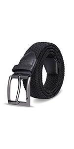 Elastic Braided Belts for Men Women