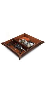 Londo PU Leather Valet Tray, Office Desk Organizer, Storage Tray