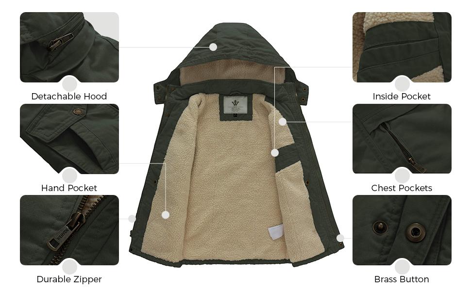 kids winter parka jacket