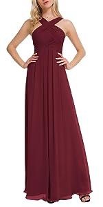 Burgundy Dress for Women