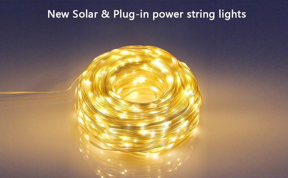 New solar string lights