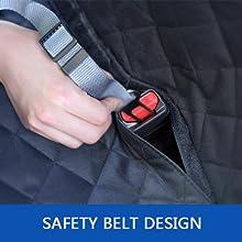 velcro opening for dog seat belt