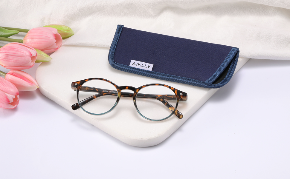reading glasses with case colorful reading glasses for ladies round frame