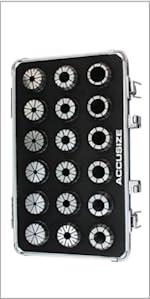 3 mm to 20 mm by 1 mm ER-32 Collet Set, 18 Pcs/Set, 3350-0585