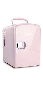 AstroAI 4L Mini Fridge Pink