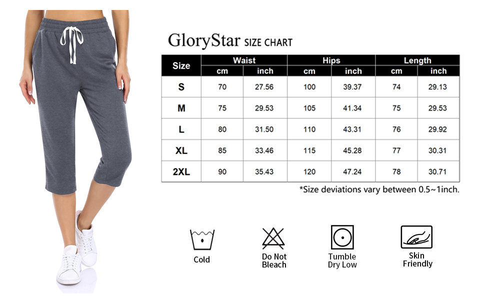 Womens Capri Wide Leg Yoga Pants High Waisted Cropped Lounge Sweatpants with Pockets Loose Fit