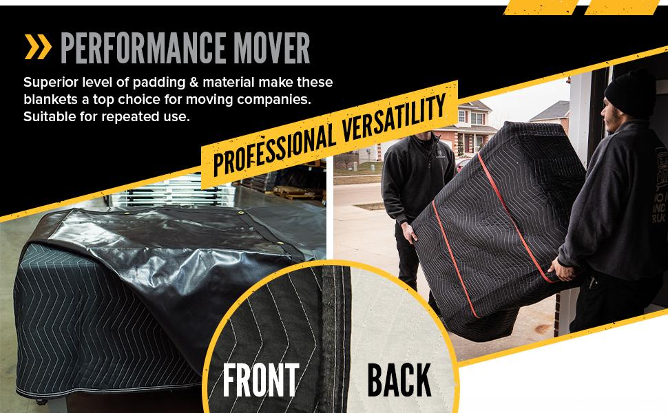 professional quality moving blanket for repeated use
