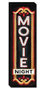 Movie Night canvas wall art