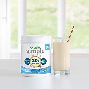 Vanilla protein simple powder