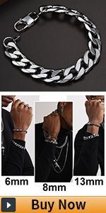 cuban bracelet for men stainless steel