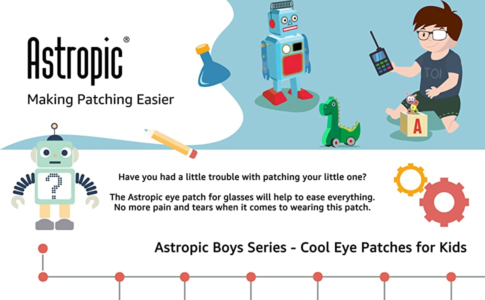 astropic eye patches for kids boys eye patch for glasses robot astronaut space rocket
