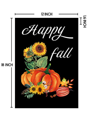 fall flags 12x18 double sided
