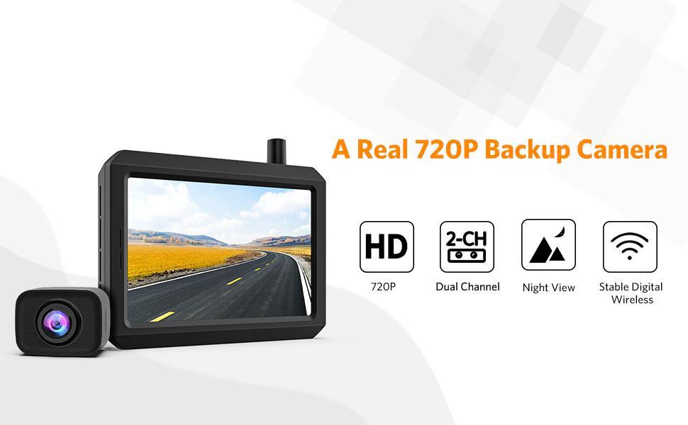 K7 Pro Digital Wireless Backup Camera
