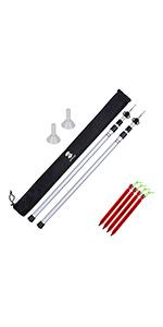 Adjustable Tarp Poles Set of 2 for Tents