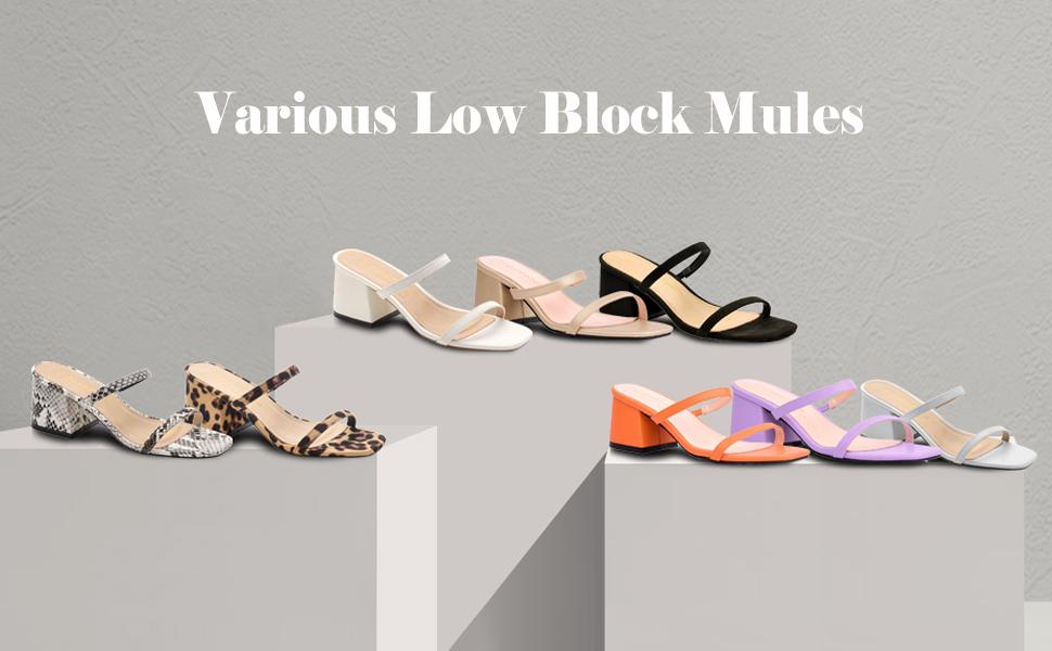 various low block mules