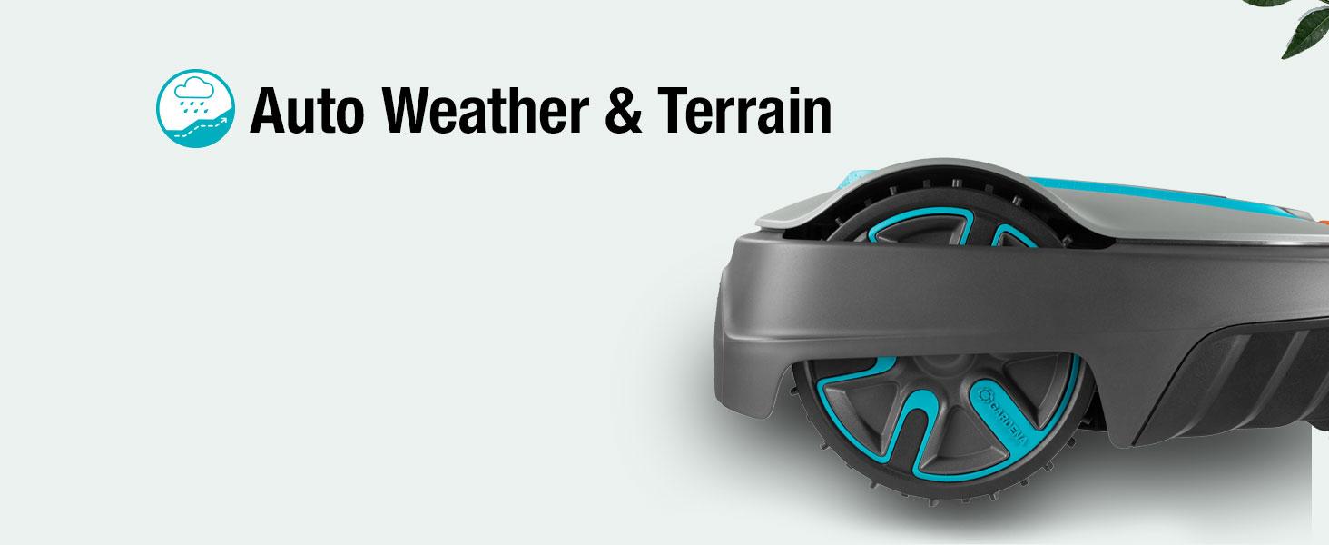 stille, robotmaaier, gazon, sileno, 300,auto, weather, terrain