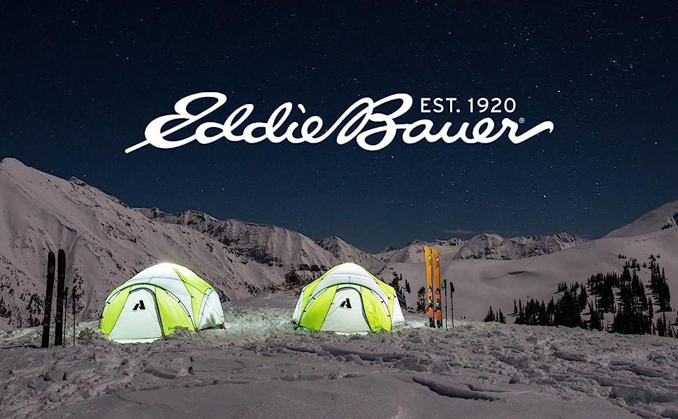 Eddie Bauer logo with tents