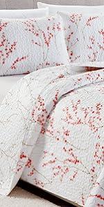 cherry blossom quilt set