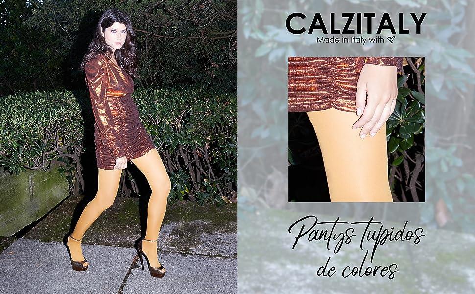 Medias De Invierno | Pantys Tupidos De Colores | 80 Den | M, L, XL | Calcetería Italiana