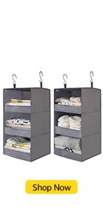 GRANNY SAYS 3-Shelf Hanging Closet Organizers, Set of 2