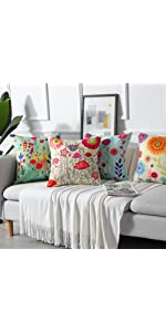 Tropical Plants Pattern Waterproof Cushion Covers