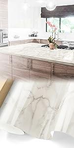 Gloss White Marble Granite Vinyl