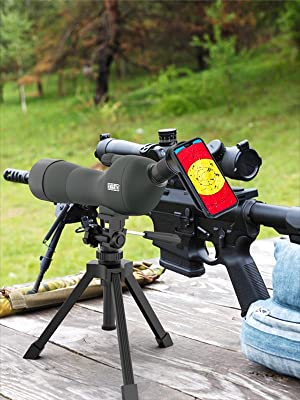 Emarth 20-60x60 spotting scope with cellphone adapter and tripod, great for target shooting