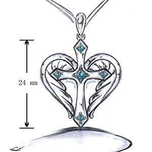 Heart Angel Wings Cross Necklace