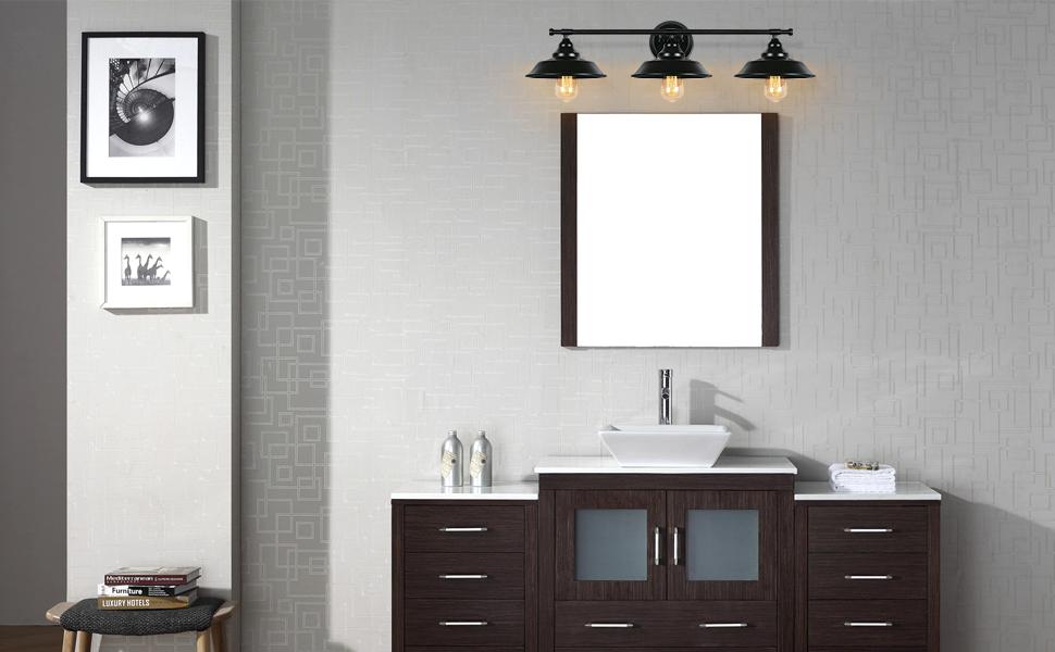 farmhouse bathroom light