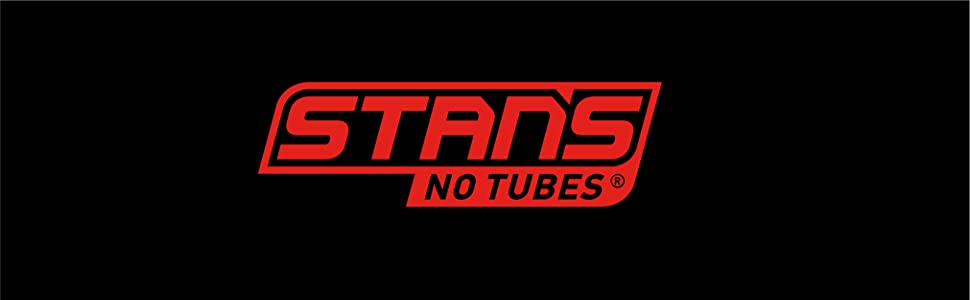 The Stan's No Tubes logo in red on a black background.