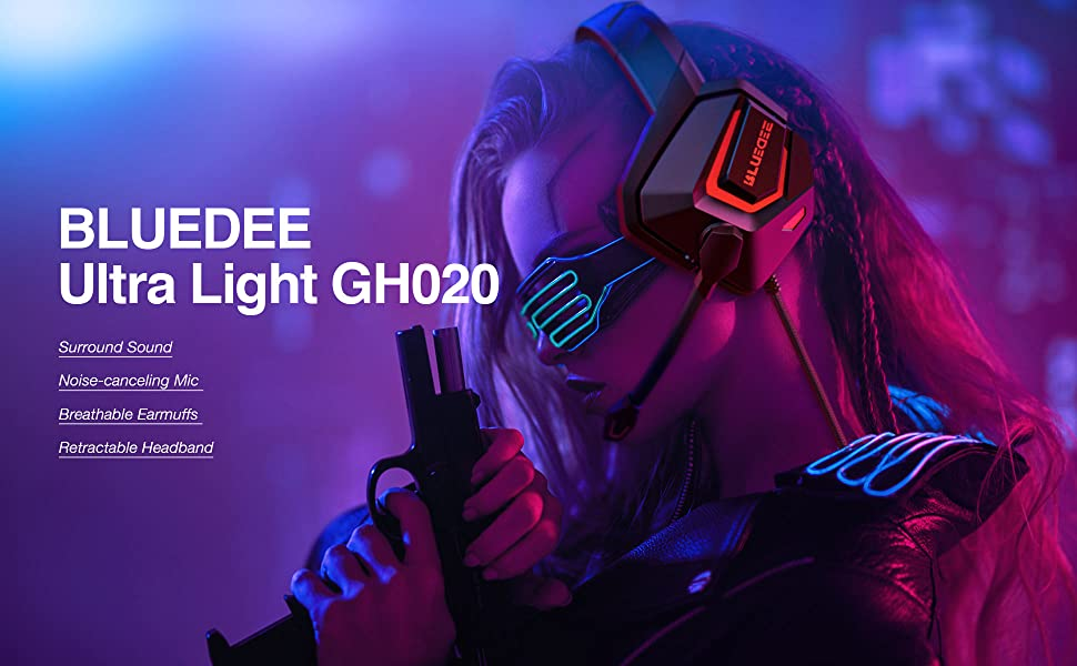 BLUEDEE Ultra Light Gaming Headset