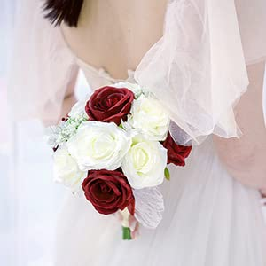 Red and White Bouquet for Wedding