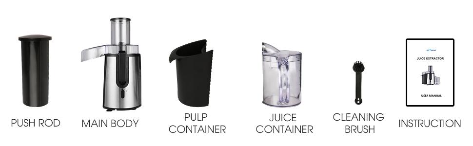 Juice Extractor for Vegetable Fruit