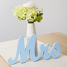 Light Blue Mr amp; Mrs Sign