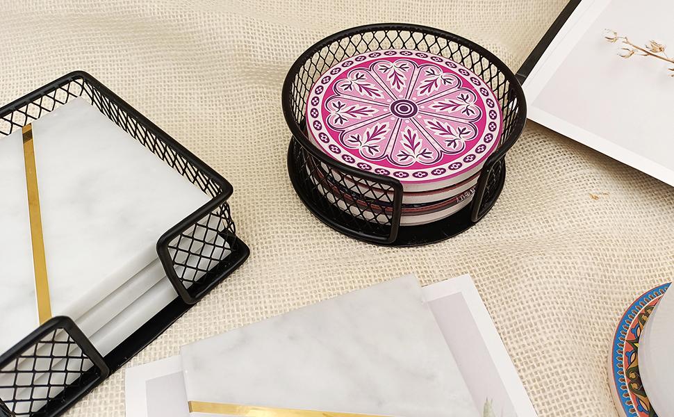 Round coasters holder