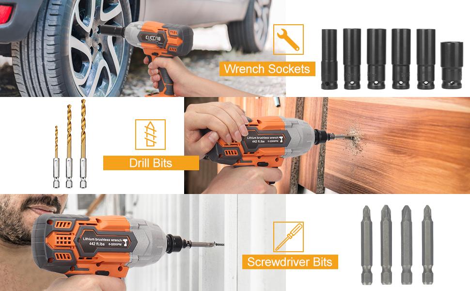 cordless impact wrench 1/2 impact gun impact drill impact driver